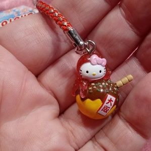 Hello Kitty Pink Octopus🐙 Ball Cell Phone Charm